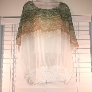 Gorgeous summer sheer blouse